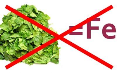Hai bisogno di ferro? Mangia tanti spinaci!